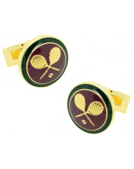 British Sporting Skultuna Cufflinks - Tennis
