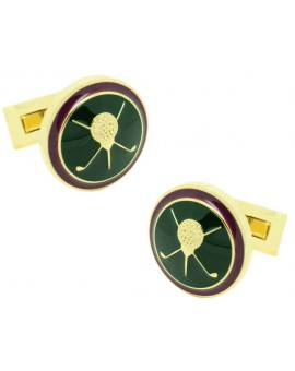 British Sporting Skultuna Cufflinks - Golf