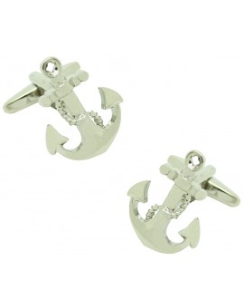 Anchor with Chain Cufflinks