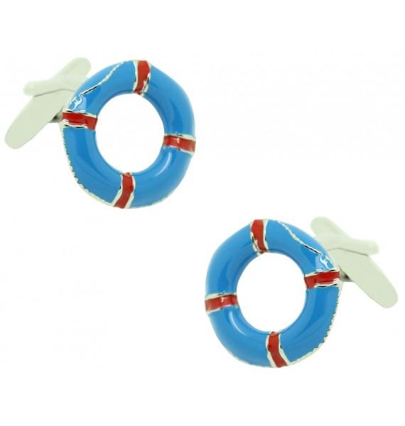 Blue Lifebelt Cufflinks