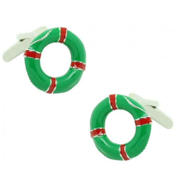 Gemelos para camisa Salvavidas Verde