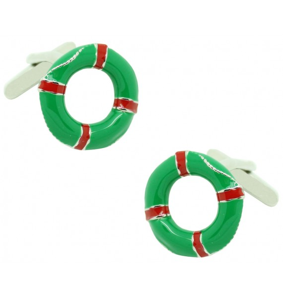 Green Lifebelt Cufflinks