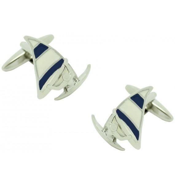 Blue Sail Windsurf Cufflinks