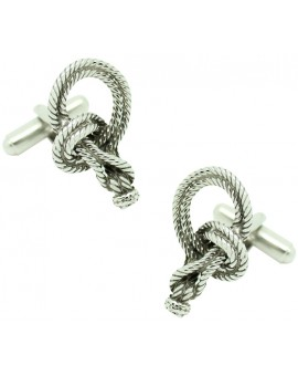 Bowline Nautical Knot Cufflinks
