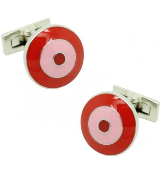 Red and Pink Bomber V.2 Skultuna Cufflinks