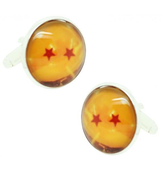 Gemelos de camisa Dragon Ball 2 Estrellas