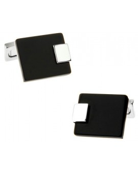 Black and Silver IX Cufflinks