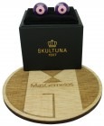 Purple and Pink Bomber V.2 Skultuna Cufflinks
