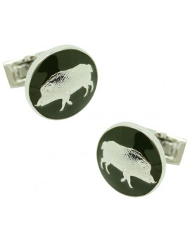 The Hunter Skultuna Cufflinks - The Wild Boar