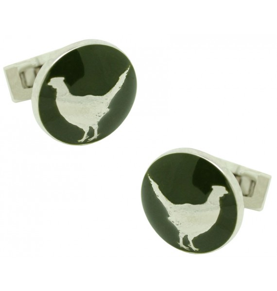 The Hunter Skultuna Cufflinks - The Pheasant