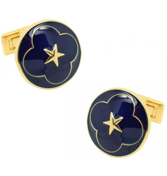 Gemelos para camisa Serie Oficial de la Boda - Azul Marino