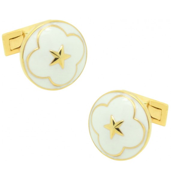 The Official Wedding Series Cufflinks - White