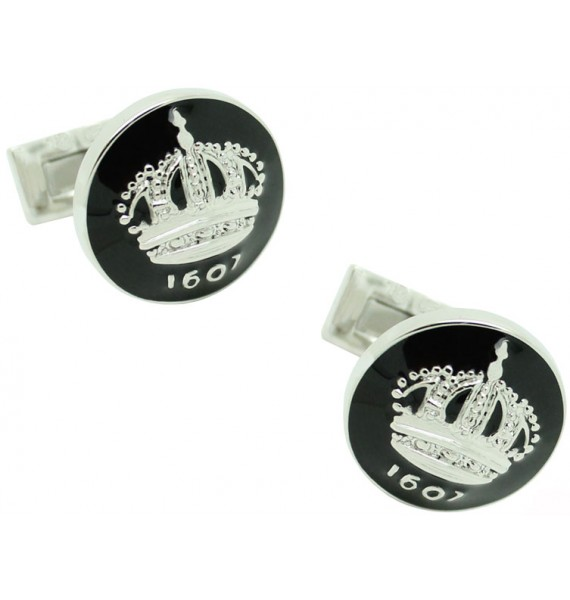 Skultuna Crown Cufflinks - Black
