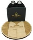 Gemelos para camisa Corona de Skultuna - Negro