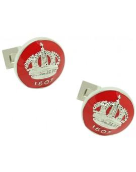 Skultuna Crown Cufflinks - Red