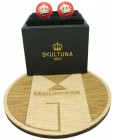 Gemelos para camisa Corona de Skultuna - Rojo