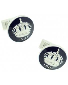 Skultuna Crown Cufflinks - Blue