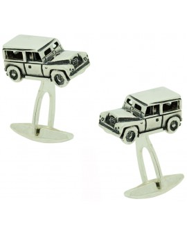 Sterling Silver Land Rover Defender Cufflinks