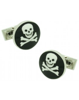 Black Skull and Bones Skultuna Cufflinks
