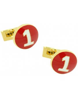 Golden Racer Skultuna Cufflinks - Red