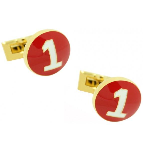 gemelos marca skultuna numero 1 rojo para camisa