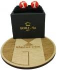 Golden Racer Skultuna Cufflinks - Red