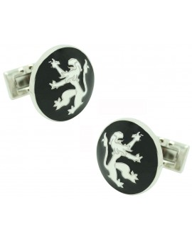 Black Rampant Lion Skultuna Cufflinks for man