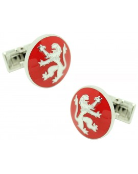 Red Rampant Lion Skultuna Cufflinks for man