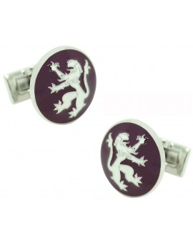 Purple Rampant Lion Skultuna Cufflinks