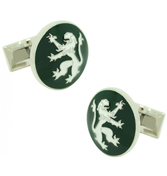 Green Rampant Lion Skultuna Cufflinks
