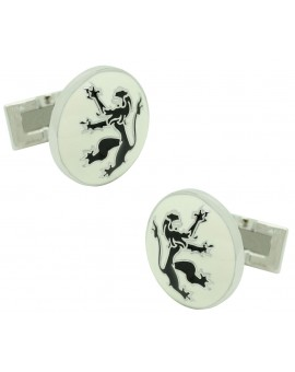 White Rampant Lion Skultuna Cufflinks for man