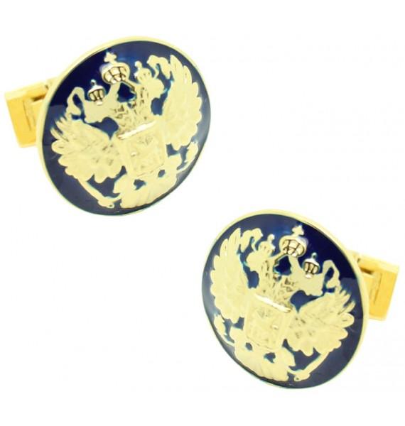 Gemelos para camisa Skultuna Doble Águila Dorado - Azul