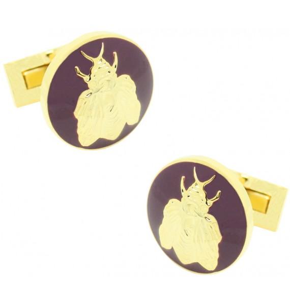 Gold and Purple Napoleón Bee Skultuna Cufflinks
