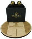 Gold and Black Napoleón Bee Skultuna Cufflinks