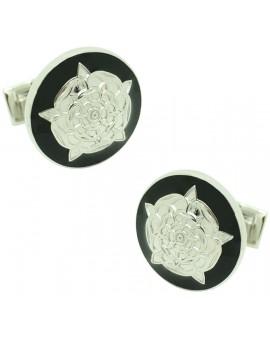 Tudor Rose Skultuna Cufflinks - Black
