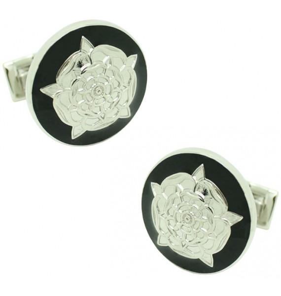 Gemelos para camisa Skultuna Rosa de Tudor - Negro
