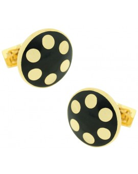 Golden Balls Skultuna Cufflinks - Black