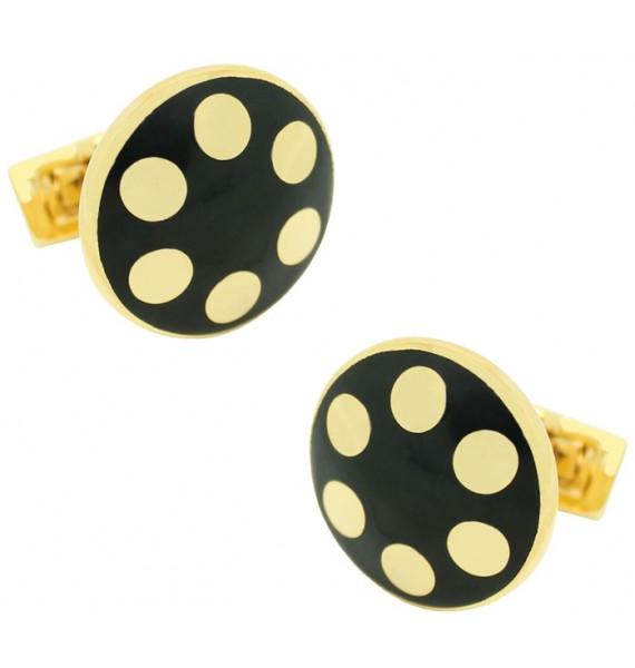 Golden Balls Skultuna Cufflinks - Black