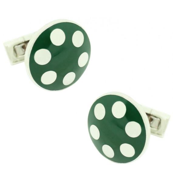 Gemelos para camisa Skultuna balas pistola Platedo - Verde