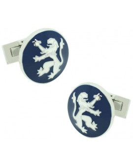 gemelos para camisa skultuna leon azul marino
