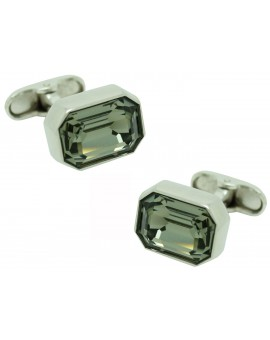 Grey Swarovski Cufflinks