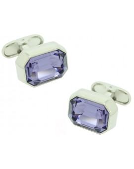 Lavender Swarovski Cufflinks