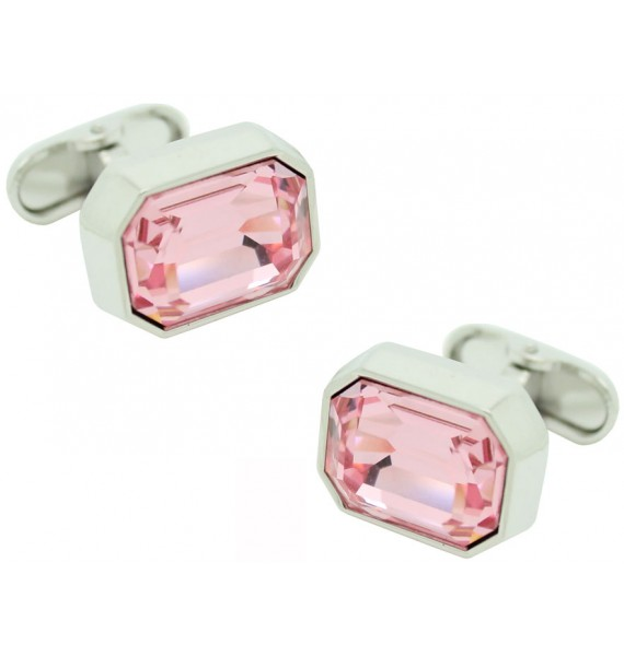 Pink Swarovski Cufflinks