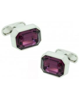 Purple Swarovski Cufflinks