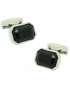 Black Swarovski Cufflinks