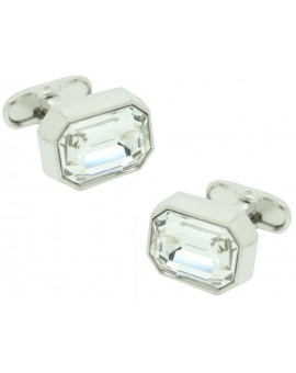 White Swarovski Cufflinks
