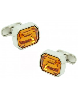 gemelos para boda cristal naranja Swarovski
