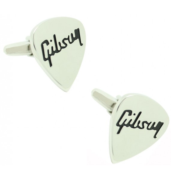 Novelty Gibson Guitar Pick Cufflinks