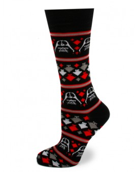 Darth Vader Holiday Edition Black Star Wars Socks