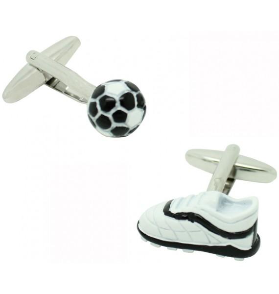 Gemelos para camisa Bota y Balón de Fútbol